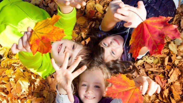 щастие деца есен мечти