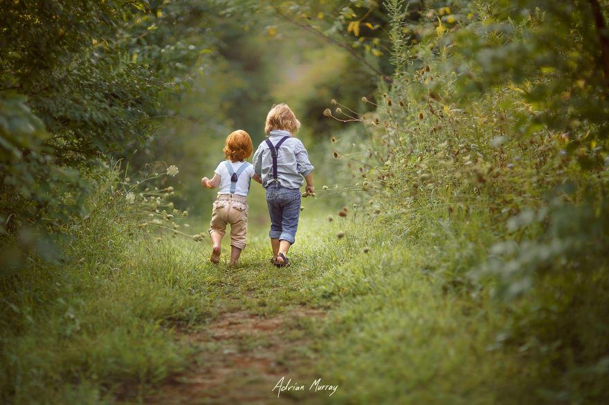 Снимки деца сред природата8