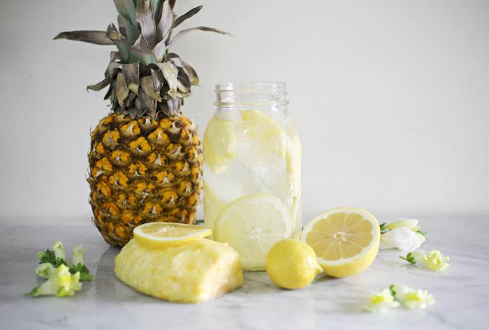 ананас лимон болно гърло