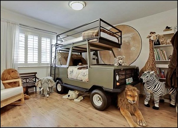 идеи детска стая легло кола7