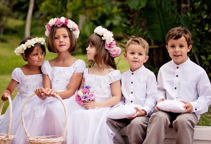 с деца на сватба