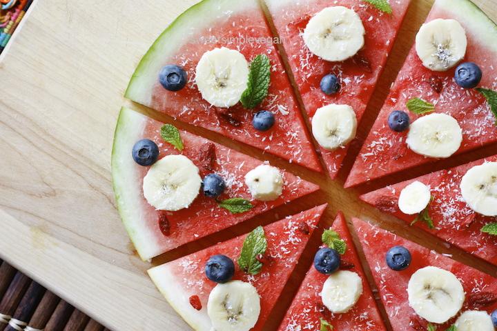 плодова пица от диня
