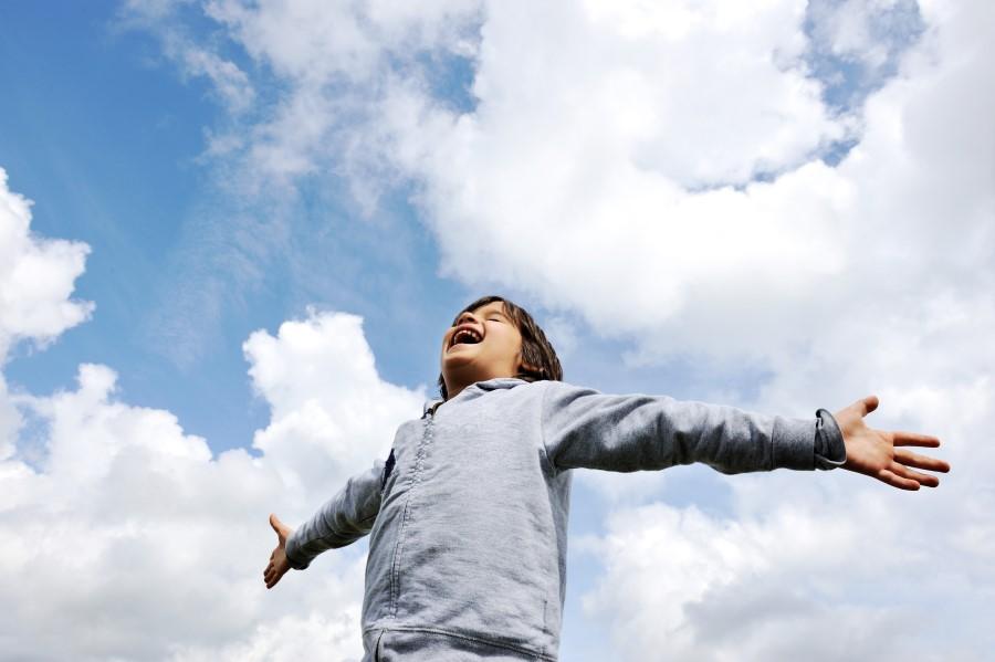 дете дишане на въздух