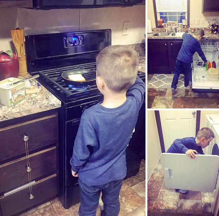 майка дете домакинска работа1