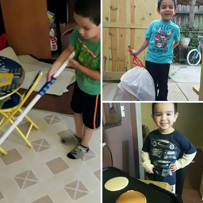 майка дете домакинска работа2