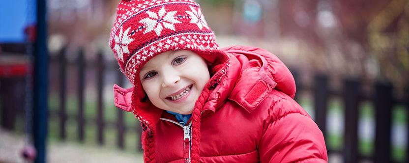 зима дете закаляване