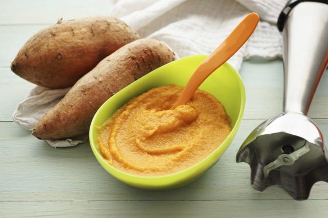 сладък картоф бебешки пюрета
