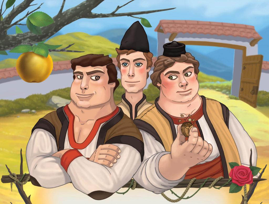 тримата братя и залтната ябълка приказка