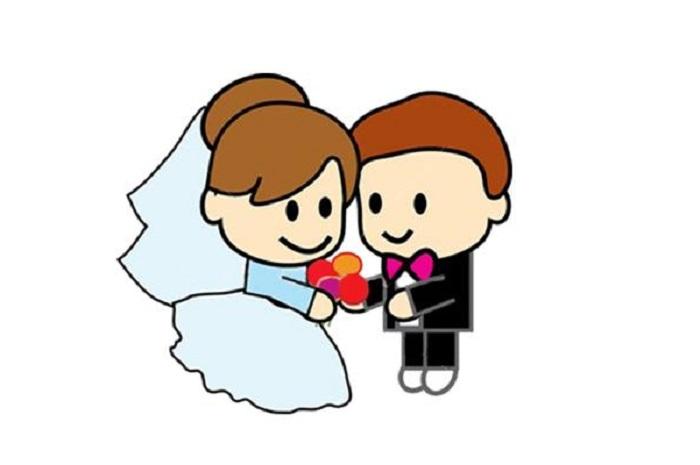 брак деца забавно семейство