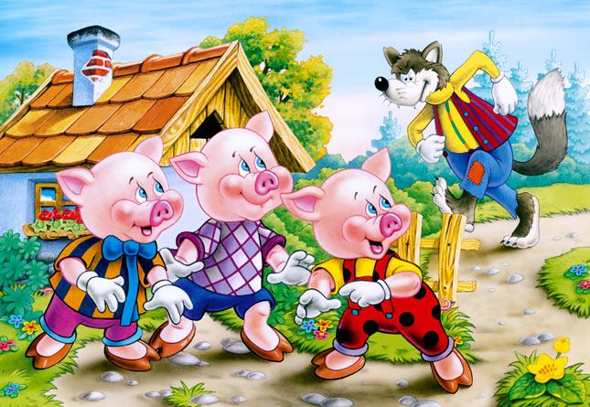 трите прасенца приказка
