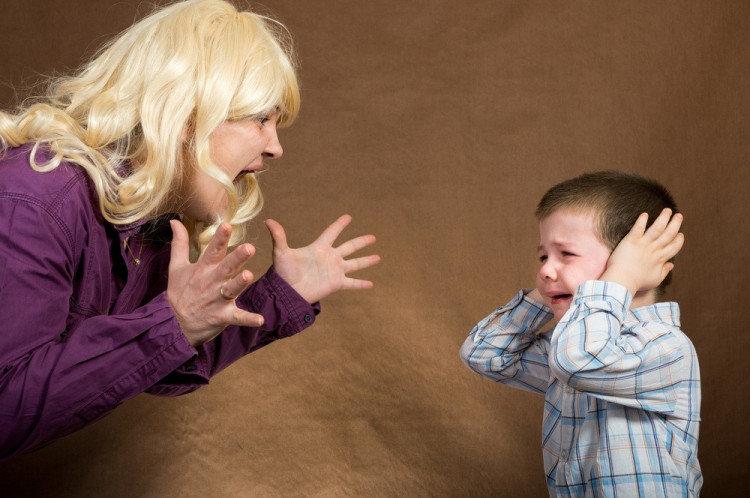 дете родител гняв викове