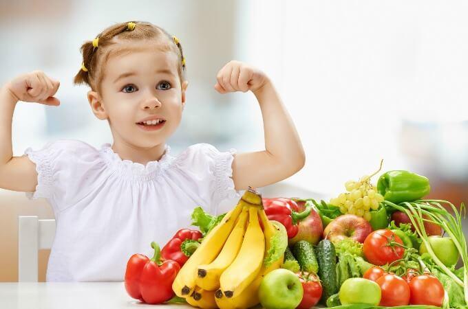 деца полезна храна плодове зеленчуци