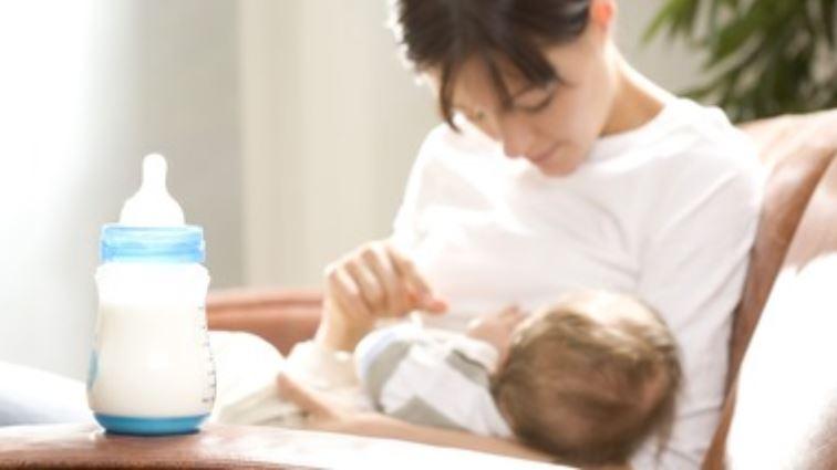 смесено хранене кърма и адаптирано мляко