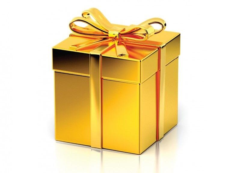 Приказка за един празен коледен подарък със златиста опаковка