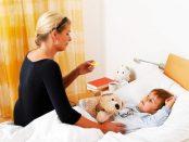 грижа за болно дете съвети
