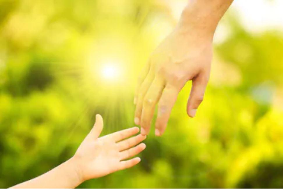 баща син ръце
